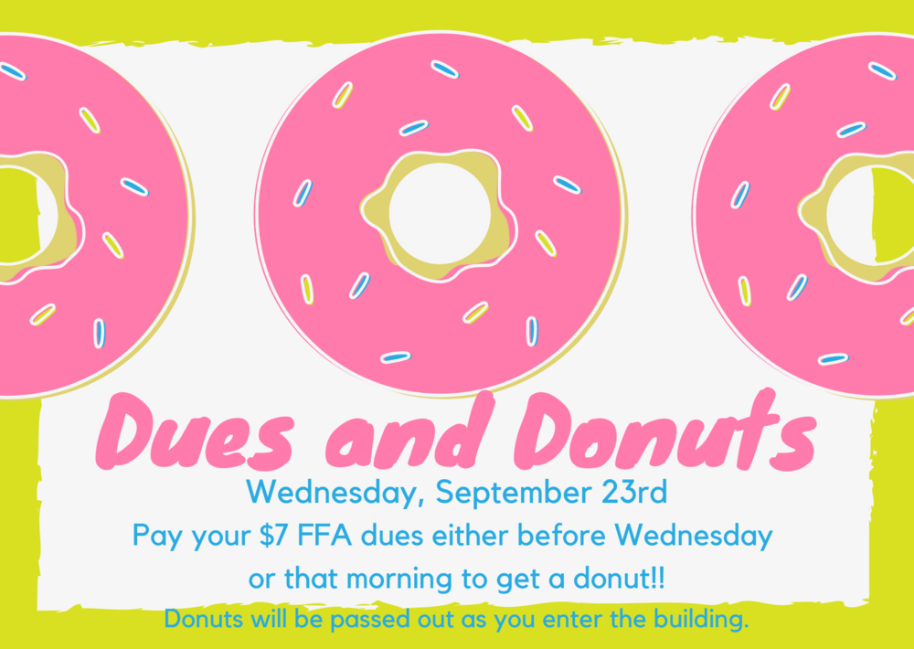 RP FFA Dues and Donuts