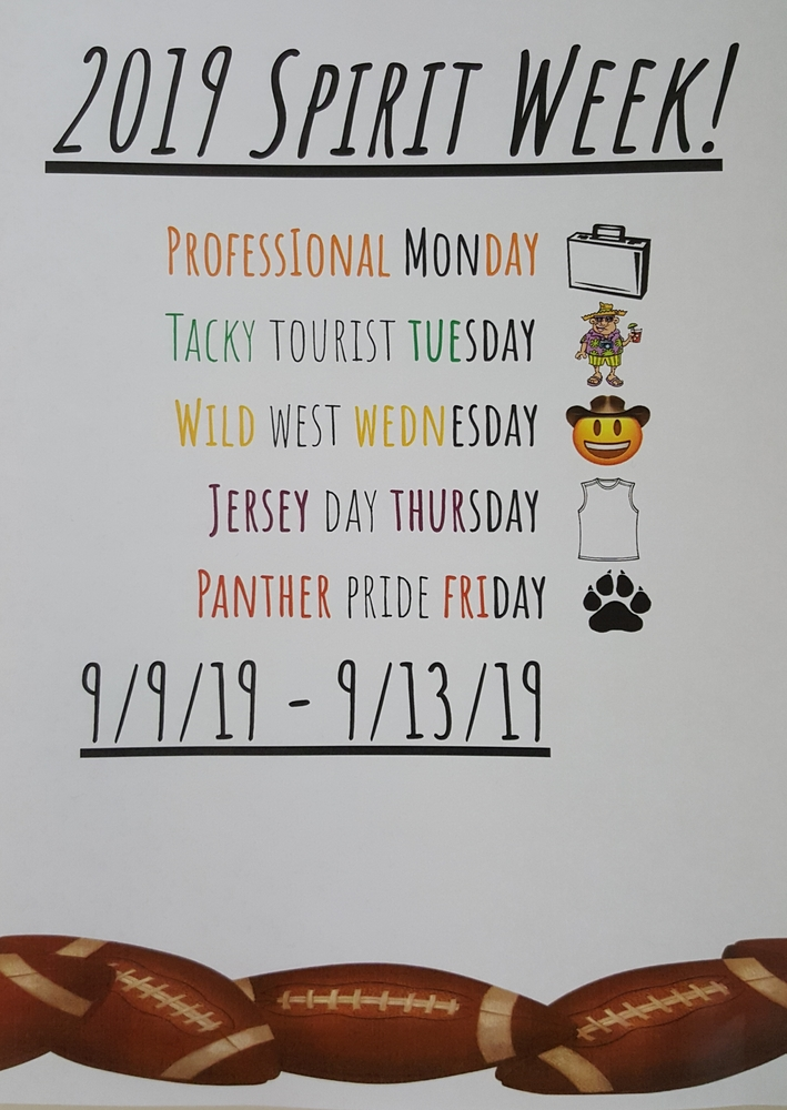 Fall Homecoming Spirit Week