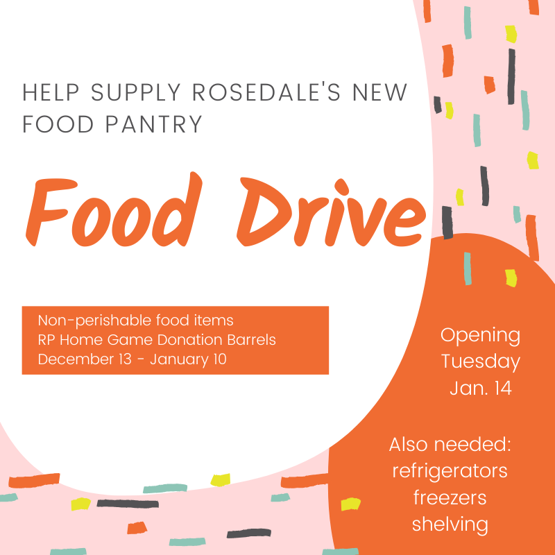 Food Drive for Rosedale's New Food Pantry