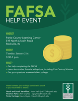 Local FAFSA Help Event Rescheduled