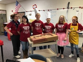 "JH Student Council Delivers Doughnuts for ""On a Roll"""