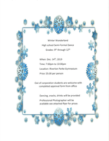 Winter Wonderland - High School Semi-Formal Dance