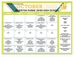 RP October 2020 Breakfast-Lunch Menu