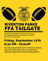 RP FFA Tailgate - Friday, Sept. 27