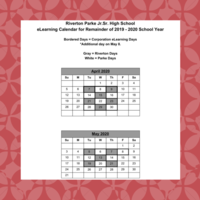 eLearning Calendar for Remainder of 2020