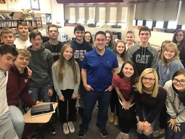 Stampede Blue Writer Speaks to Mass Media Class