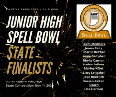 Congratulations to the Junior High Spell Bowl Team!