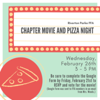 RP FFA Chapter Movie and Pizza Night