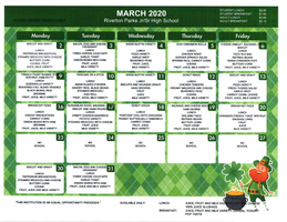 March 2020 Breakfast/Lunch Menu