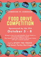 Stock up this weekend for the Food Drive Competition next week!