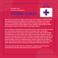 Reminder Regarding Student Illness